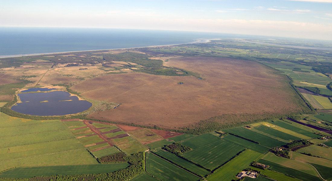Landskab set fra luften